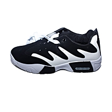 Men's Shoes White And Black Mixed Colors Sports Shoes