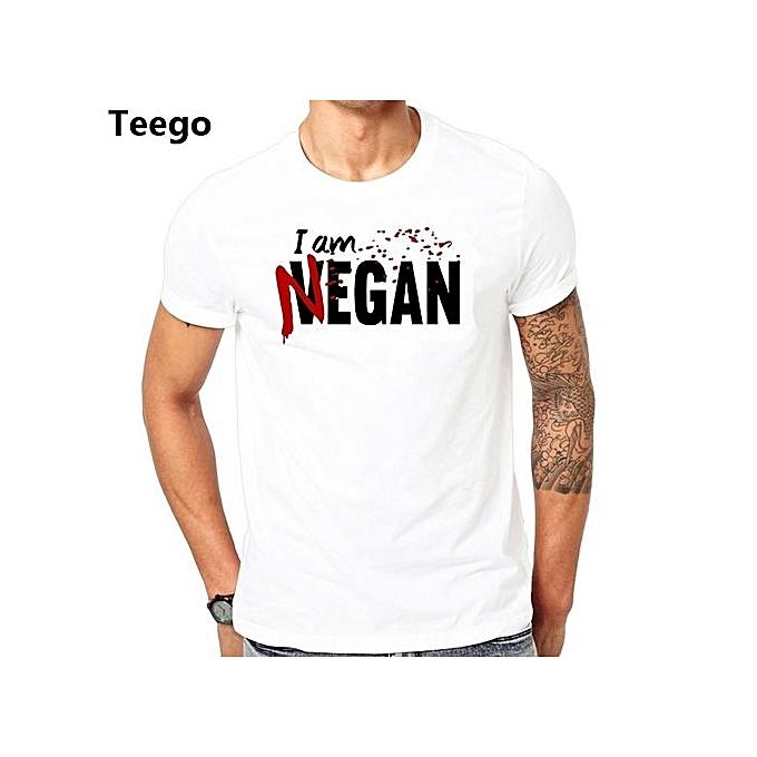 64e320215 Negan Lucille T Shirt Homme Walking Dead Negan Lucille Men Male Design  Custom Short Sleeve Valentine's