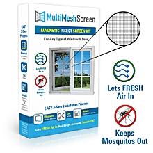 "Multi Mesh Mosquito Window Screen Kit - 39"" x 83"" - Black"