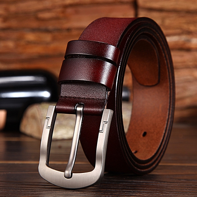 Generic Men S Pin Buckle Leather Belt Casual Wild Wide Leather Belt