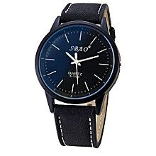 SBAO Fashionable Personality Trends Symphony Mirror High-grade Business Belt Watch- Black