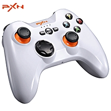 PXN- 9613 Wireless Bluetooth Game Controller Portable Handle Bracket Gamepad for PC / Tablet / Android Smartphone / TV Box-WHITE