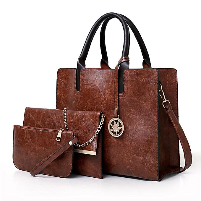 Women S Bags 3 Piece Set Faux Leather Handbag Tote