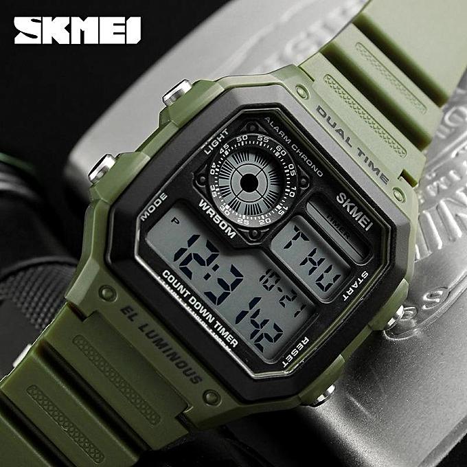 10735553b09 SKMEI Luxury Brand Men Sports Watches Fashion Chrono Countdown Waterproof  Digital Watch Casual Military Men Clock
