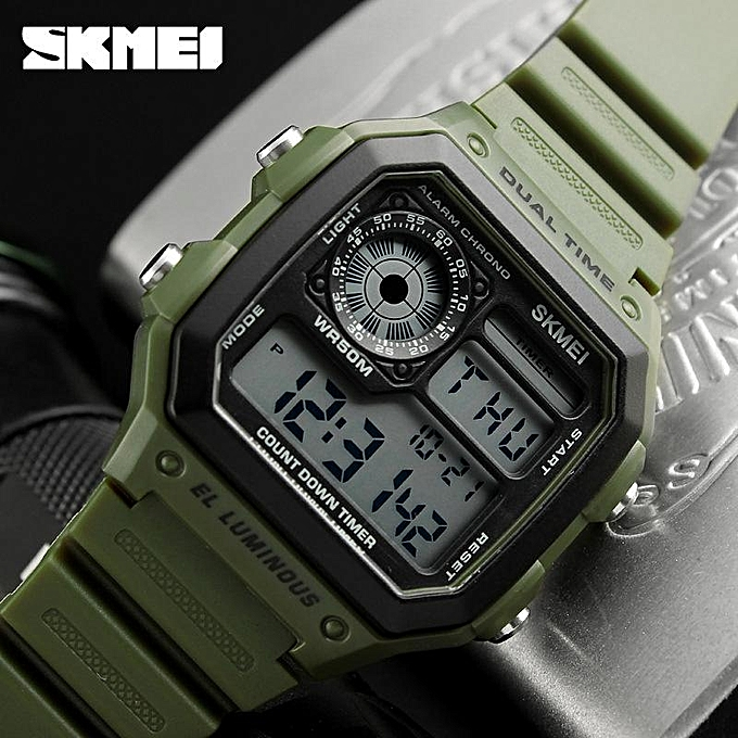 Skmei SKMEI Luxury Brand Men Sports Watches Fashion Chrono Countdown  Waterproof Digital Watch Casual Military Men Clock Wristwatches 1299 e409d03ad3