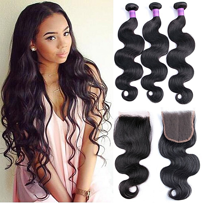 Buy Generic Peruvian Body Wave 45 Bundles With Closure Mixed Length