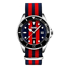 9133 Men Luxury Brand Watches Quartz Fashion Casual Classical Nylon Men Wrist Watch - Dark Blue