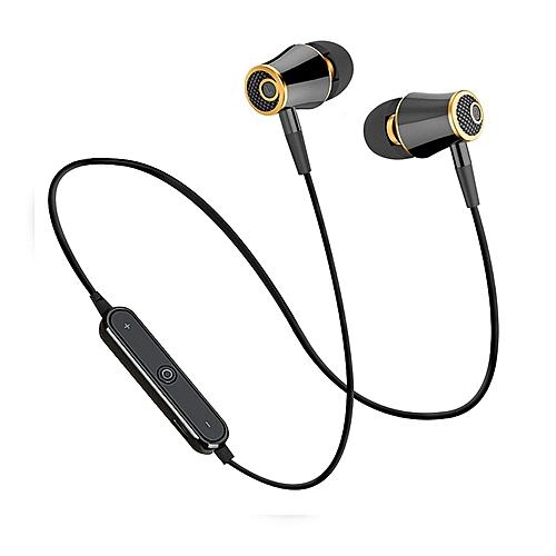 81c4a349dfd Generic N64 Wireless Bluetooth Headphones Super Bass Earphones Sports  Headset Sweatproof Cordless Earbuds With Mic(#Black gold)