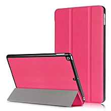 Litchi Texture Auto-wake/sleep Tri-fold Stand Protective Leather Case for iPad 9.7 (2017) - Rose HSL-G