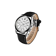 The Best Selection  OUKESHI European Fashion Men's Business Watch Three Eye Watches For Students Watch Waterproof  Belt