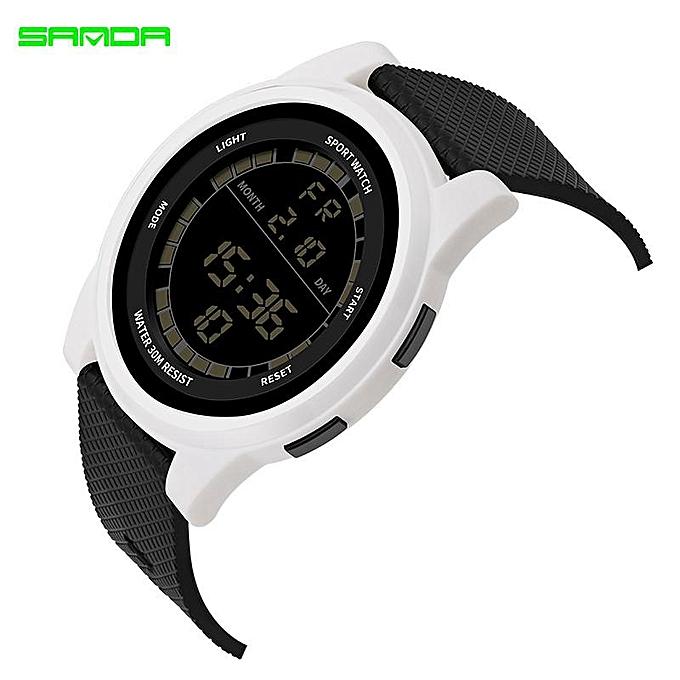0886617ac New SANDA Super Slim Digital Watch Men Waterproof 3ATM Men's Watches Ultra  Thin Military Sport Wristwatches