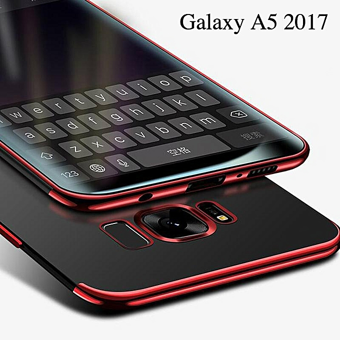 separation shoes be24c 537e2 For Samsung Galaxy A5 2017 Soft Case Transparent Plating Shining Cover For  Samsung A5 /A520 Case Antioxidant Housing 204207 c-0 (Color:Main Picture)