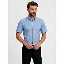 Blue Fashionable Regular Shirt