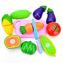 2017 Kids Pretend Role Play Kitchen Fruit Vegetable Food Toy Cutting Set Gift