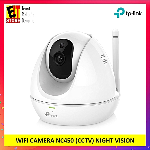 TP-LINK HD Pan/Tilt WiFi CAMERA NC450 (CCTV) NIGHT VISION, SD CARD SLOT,  MOTION DETECTION (White) XINJIN