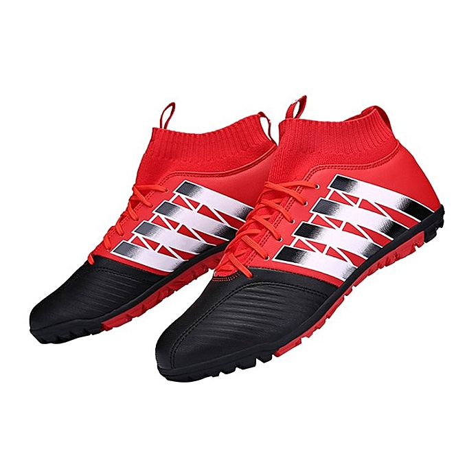 5c33bae1df55 Football Shoes Broken Nail Anti-skid Soccer Boots Sports Training Sneakers  Black   red