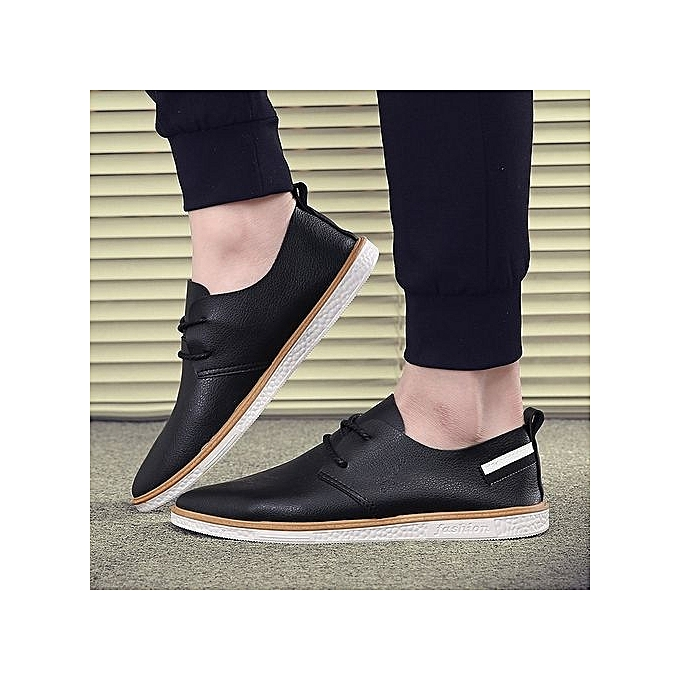 7e7c7d7aa9 Men Leather Shoes Casual Fashion Shoes For Men Designer Shoes Casual  Breathable Big Size Mens Shoes