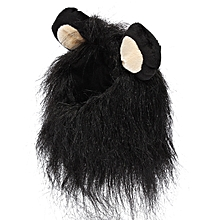 Pet Costume Lion Mane Wig Dog Cat Halloween Clothes Fancy Dress up with Ears New