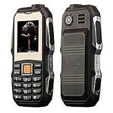 L9 Triple Proofing Elder Phone, Waterproof Shockproof Dustproof, 3800mAh Battery, 1.8 inch, 21 Keys, LED Flashlight, FM, Dual SIM(Black)