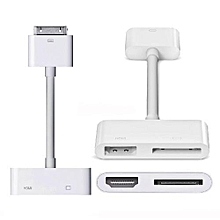 adapter iPad dock to HDMI digital AV video adapter Dock to HDMI HDTV HDTV AV cable adapter for iPad 2 3 iPhone 4 4S iPod Touch 4G (only compatible with iOS 6.0. 8.0 version)