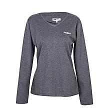 Grey Long Sleeved Women's Light Weather Sweater