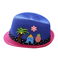jiuhap store Summer Baby Hat Cap Children Breathable Hat Show Kids Hat Boy Girls Hats Caps-Dark Blue