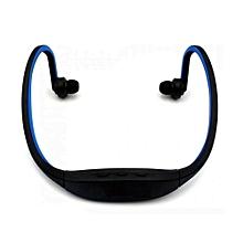 Bluetooth Headphone Headset with Mic / Music Playing / FM / TF Slot - BLUE