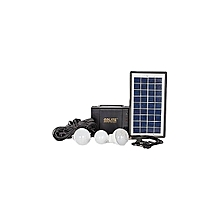 GDLITE Brighter Than Ever GD-8006-A - Solar Lighting System with 3 bulbs - Black