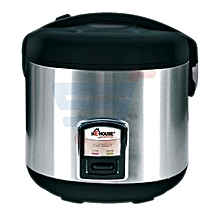 Silver and Black Rice Cooker - 1.8 liters