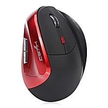 HXSJ X60 6D Wireless Gaming Ergonomic Design Optical Vertical 2400DPI Mouse RED