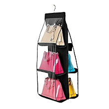Hanging Handbag Organizer Dust-Proof Storage Holder Bag Wardrobe Closet For Purse Clutch With 6 Large Pockets
