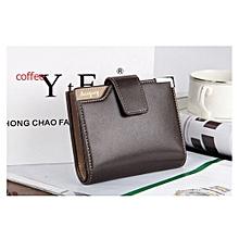 Elegant Executive Men  PU Leather Wallet -Black
