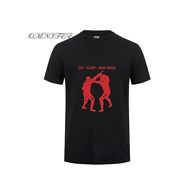 738895e2e5f2 Generic Men s Fashion T-shirt Eat Sleep Krav Maga T Shirt Men Game T ...