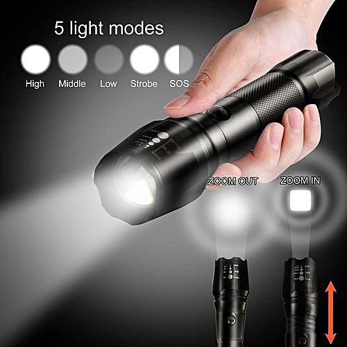 Xml Torch Lamp T6 18650 Flashlight Light Led Focus G700 X800 Zoomable oxBrtshQdC
