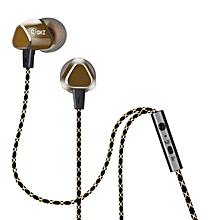 QKZ X36 3.5mm In-ear Headphone Super Bass Music Earphone With Mic For Smartphone PC PRI-P