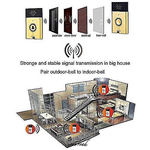 Wireless Walkie-Talkie Doorbell Electric Doorbell/Buzzer/Buzzer With  Walkie-Talkie System For Family Apartments Office Doors And Bedrooms   600-Foot