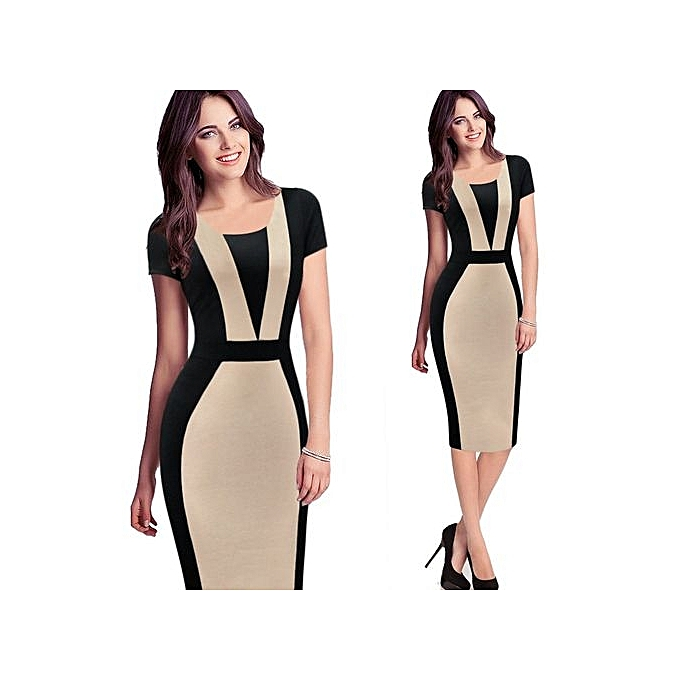 4207ac6c9c5a Women Elegant Ruched Sexy O Back Casual Wear To Work Office Business Party  Club Bodycon Pencil