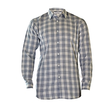 Grey And White Square Checked Shirt