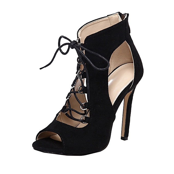 941b203c84b ... Blicool Shop Women Sandals Women High Heel Pumps Lady Martin Boots  Girls Heel Boots Bandage Hollow ...