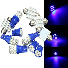 11PCS GREEN LED Lights Interior Package for T10 & 31mm Map Dome + License Plate (Blue)