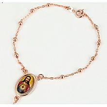 Gold Coated Rosary Bracelet