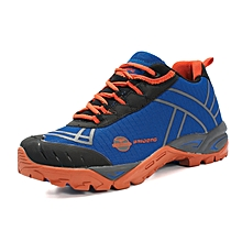 Spring Autumn Outdoor Men Hiking Mountain Climbing Shoes Anti-skid Breathable Trekking Shoes Casual Travel Sports Sneakers - Orange