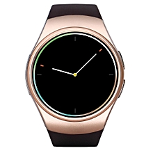 KingWear KW18 1.3 inch Round Dial Smartwatch Phone MTK2502 IPS Screen Pedometer Sedentary Reminder Bluetooth 4.0 Heart Rate Monitor CHAMPAGNE GOLD NANO SIM CARD