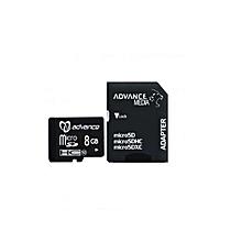 8GB- Micro SD Memory Card with Adaptor  - Black