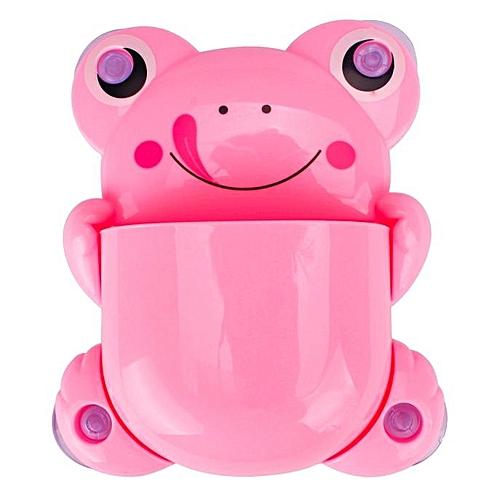 Generic Cute Cartoon Sucker Hook Toothbrush Holder Frog Bathroom Set PK