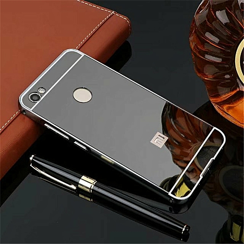 new style 40d0d b0cbb Metal Frame Mirror PC Back Cover For Xiaomi Redmi Y1