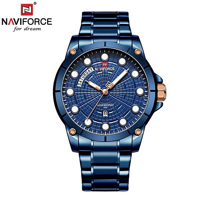 1379dfb04fdd Luxury Brand Men Stainless Steel Gold Watch Men s Quartz Clock Man Sports  Waterproof Wrist Watches Relogio