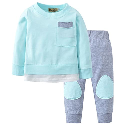 6dc08f976 Generic Autumn Newborn Infant Baby Boy Girl T shirt Tops+Pants 2PCS ...