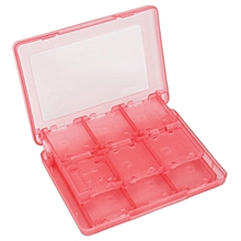 CO 28 in 1 Game SD Card Holder Case Cartridge Storage for Nintendo 3DS DS DSi-red