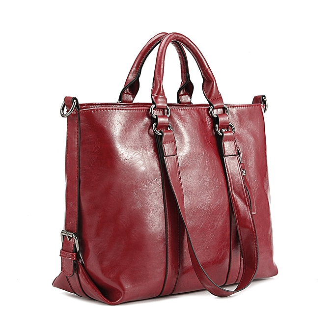 157dc27d8370 bluerdream-Fashion Leather Bags Tote Leather Handbags Women Messenger Bags  Shoulder Bag-Red